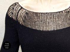 yoke in lightweight yarn #knitting #pullover