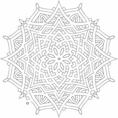 Intermediate Mandala 12 FREE colouring pages for adults