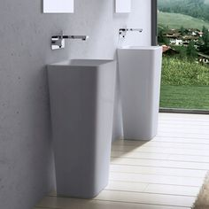 PRZEŚLICZNA Umywalka Wolnostojąca Liniger - Sylvia 7023592465 - Allegro.pl Trash Can, Pedestal Basin, Free Standing, Sink, Pedastal, Rectangle, Pedestal, Stone, Basin