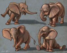 Little elephants #elephants #characterdesign #drawing #animals