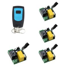 Hot Sale Mini AC220V RF Wireless Remote Control Switch System Transmitter and Learning Code Receiver for Motor and Electric Door