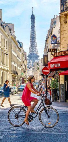A Day In Paris, Paris Paris, Paris Street, Paris France, Street View, Parisian, Perfume, Bike, Colors