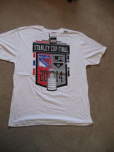 0552108cc7d New With Tags, NY Rangers Licensed 2014 Stanley Cup T- Shirt with Roster,