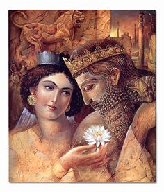 Emperor Darius the Great (Darius I) with his mighty Queen, Atusa Shahbanu Atusa Shahbanu was the Queen of the Persian Empire, wife of the mighty Persian Achaemenid King Darius the Great, daughter of Cyrus . 522-486 B.C.  -- Located in the Museum of Me
