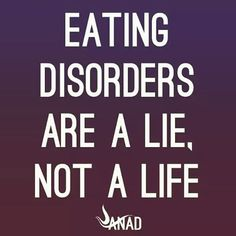 Simple message from @anadhelp !  #eatingdisorders #eatingdisorder #mentalhealth #anorexia #bulimia #binge #bingeeating #bingeeatingdisorder #truth