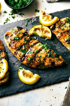 The BEST Grilled Chicken Marinade. Only uses 1 Tbsp honey in marinade (other 3 are for honey lime sauce) Best Grilled Chicken Marinade, Chicken Marinade Recipes, Marinated Chicken, Grilled Meat, Grilling Recipes, Cooking Recipes, Healthy Recipes, Citrus Marinade For Chicken, Chicken Breast Marinades