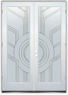 Sun Odyssey Frosted Pinstripe - Double Entry Doors Hand-crafted, sandblast frosted and 3D carved. Available as interior or entry door in 8 woods and 2 fiberglass. Slab door or prehung any size, or as glass insert only. Our fun, easy to use online Glass and Door Designer gives you instant pricing as YOU customize your door and glass! When you're all finished designing, you can place your order right there online! Doors ship worldwide from Palm Desert, CA