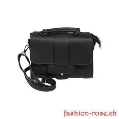 Modische Handtasche schwarz Outfits, Bags, Trends, Material, Fashion Ideas, Elegant Woman, Fashion Handbags, Artificial Leather, Shoulder
