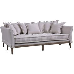 Elan Ritz Day Bed Sofa ($3,204) ❤ liked on Polyvore featuring home, furniture, sofas, whitewash furniture, pillow back sofa and white washed furniture