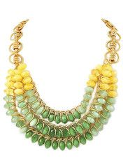 Green & Yellow Jewel Statement Necklace