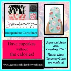 To view 150+ different nail designs go to www.georgiasnails.jamberry​nails.net These nails are chemical free made of a vinyl film. Each nail sheet will do your fingernails & Toenails twice. You could buy a sheet and share with a friend. Georgia's Nails by Jamberry are heat and pressure activated, so you put them on and remove them with a hair dryer. To host a nail party and earn free nails go to my website and request a party www.georgiasnails.jamberry​nails.net