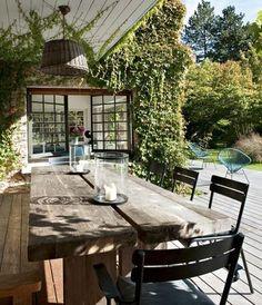 un déjeuner en terrasse