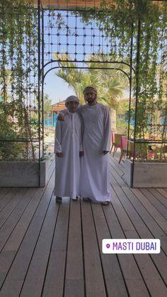 Saeed bin Maktoum bin Juma Al Maktoum y su sobrino, Hamdan bin Mohammed bin Rashid Al Maktoum, Dubái, 18/02/2018. Vía: faz3