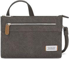 Amazon.com: Travelon Women's Anti-Theft Heritage Small Crossbody Cross Body Bag, Pewter, One Size - 33226 540 Women's Handbags, Travelon Bags, Travel Purse, Work Bags, Side Bags, Cute Purses, Small Crossbody Bag, Clutch Wallet