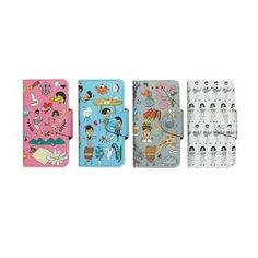iswas - 'Aurore' Series iPhone 5 Case wallet case decorated with cute illustrations on the front, matching lock screen background for iPhone