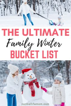 Winter family bucket list that the whole family will love completing. Fun ideas for the winter time. Over 65 amazing ideas to complete during the winter Winter Activities For Kids, Family Activities, Toddler Activities, Gentle Parenting, Parenting Hacks, Winter Fun, Winter Time, Bucket List Family, Bucket Lists