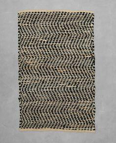 Teppich aus Materialmix - Rechteckiger Teppich aus einem attraktiven Mix natürlicher Ma...