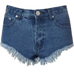 Blue Frayed Cut Off Denim Hotpant Shorts (160 ILS) ❤ liked on Polyvore featuring shorts, blue, cut-off, cut off denim shorts, hot shorts, short shorts and ripped denim shorts