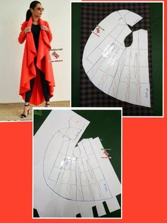 Full cloak skirt pattern with 3 layers and assymetry on front skirt. Order via line : (with - Salvabrani - Best Sewing TipsBest 11 Undertale Crochet – Most popular and and more – SkillOfKing.ComInteresting, but the excess collar was put together Frock Patterns, Designer Blouse Patterns, Dress Sewing Patterns, Sewing Patterns Free, Sewing Tutorials, Clothing Patterns, Free Sewing, Sewing Tips, Chudidhar Neck Designs
