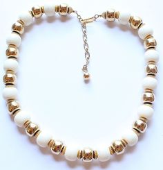 Trifari Signed Gold Tone & Faux Pearl Necklace by paststore on Etsy