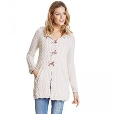ODD MOLLY CANAL LONG CARDIGAN LIGHT PORCELAIN