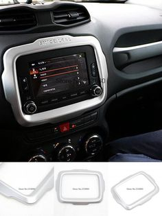 [Visit to Buy] For Jeep Renegade 2014 2015 2016 Car Styling ABS Matte Cover Trim Center Console Control Panel Interior Decoration Trim #Advertisement