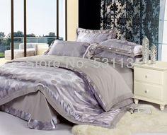 Благородный серый постельных принадлежностей 4 шт. пуховое одеяло одеяло покрывала одеяла постельное белье король королева размер постельное белье постельное белье покрывала шелк хлопок