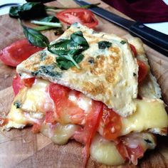 Garlic Margarita Pizza Egg Wrap...perfection!