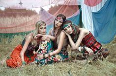 bohemian hippies | girls, girl, boho, bohemian, hippie - inspiring picture on Favim.com