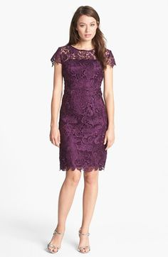 Mother of the Bride Dress - Patra Crocheted Venise Lace Sheath Dress | Nordstrom