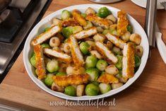 Spruitjes-ovenschotel met kip en champignonsaus - Keuken♥Liefde