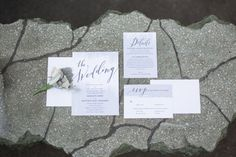 Wedding Essentials Magazine // Real Omaha Wedding // Purple // Winter // Bride // Matt & Maddie's Wedding // Invitations // Stationery