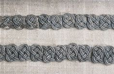 Bj 520 Birka Textile Fragment - Posament work