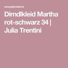 Dirndlkleid Martha rot-schwarz 34 | Julia Trentini