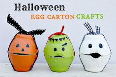 Egg Carton Monsters.