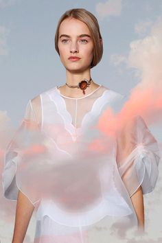 Paris Fashion Week SS16 GIFS 02 / 06  SUNSETS: Ethereal lightness and transparency transcending shape; glowing from behind the clouds. Dior, Céline, Chanel, Miu Miu.