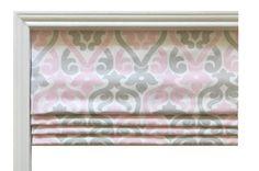Premier Prints Alex Twill Bella/French/Grey Flat Roman Shade Valence/Couture Roman Shade/ Alex Bella Nursery Room/ Your choice of Fabric
