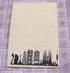 Notebook  Barcelona Skyline. Cahier