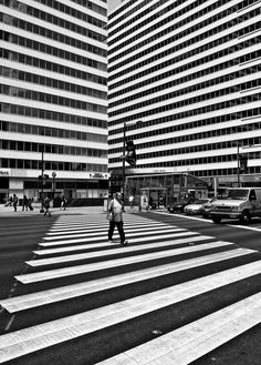 David Oakill, Convergence - #street #photography #black #white #stripes #josephcarinicarpets