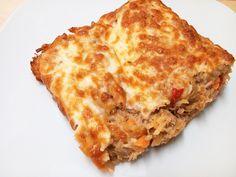 ste prato é inspirado num conhecido e tradicional prato português, bacalhau à brás, mas como vai ao forno e leva queijo ralado, decidi chamar-lhe gratinado de atum. Ingredientes 1 cebola picada 2 d…