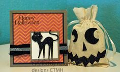 CTMH Halloween card and gift bag by Booth #32