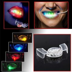 2017 New Arrival LED Flash Light Mouth Guard Piece 4 Colors Party Glowing Tooth Toy Light Up Toy Party Glowing Christmas gift gift Kid Party Favors, Party Props, Hobby Toys, Cool Gifts For Kids, Unique Toys, Mouth Guard, Skull Decor, Electronic Toys, Decorating With Pictures