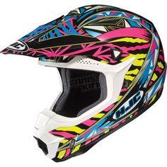 HJC Black/Yellow/Multi Fuze CL-X6 Helmet