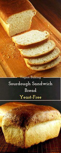 The Best Sourdough Sandwich Bread, yeast-free • Holy Cow! Vegan Recipes