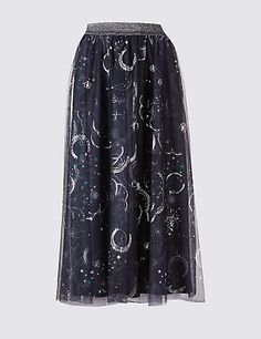 See You at the Local Coven Skirt | M&S
