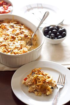 South of the Border Chicken Casserole | Recipe Runner | Cheesy comforting casserole full of chicken, rice, cheese, and green chiles for a li...