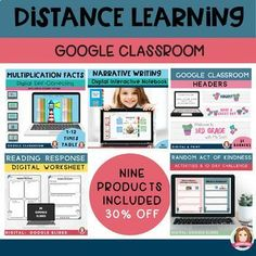 Google Classroom Bundle | Writing Reading Math