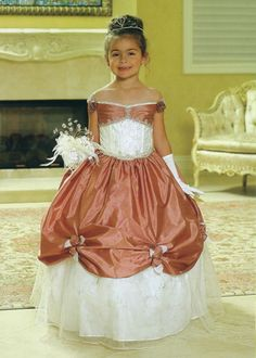 Rose Accented, Pickup Child Gown, MB622