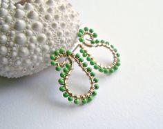 Paisley Stud Earrings Small Paisley Earrings