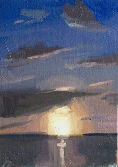 Sunset Painting- Sean Dietrich